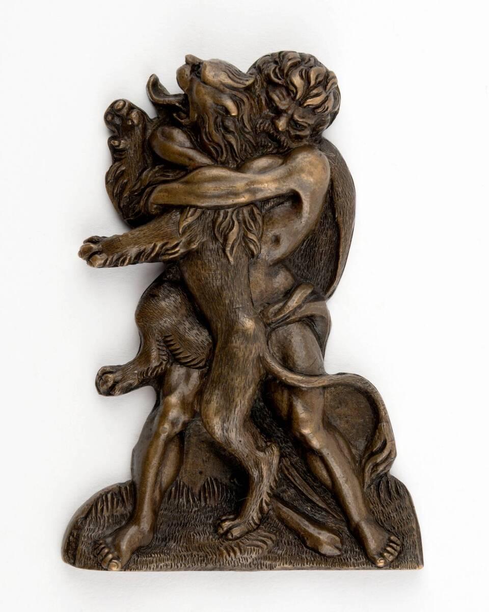 Herakles im Kampf mit dem Löwen von Anonym