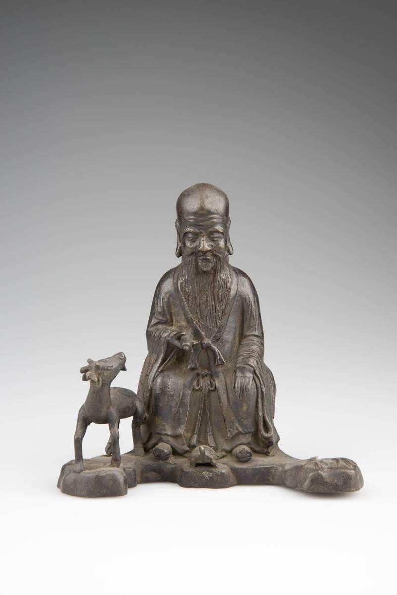 Shoulao / Shou lao (Gott des langen Lebens) mit Hirsch und Schildkröte, Kranich fehlt von Anonym