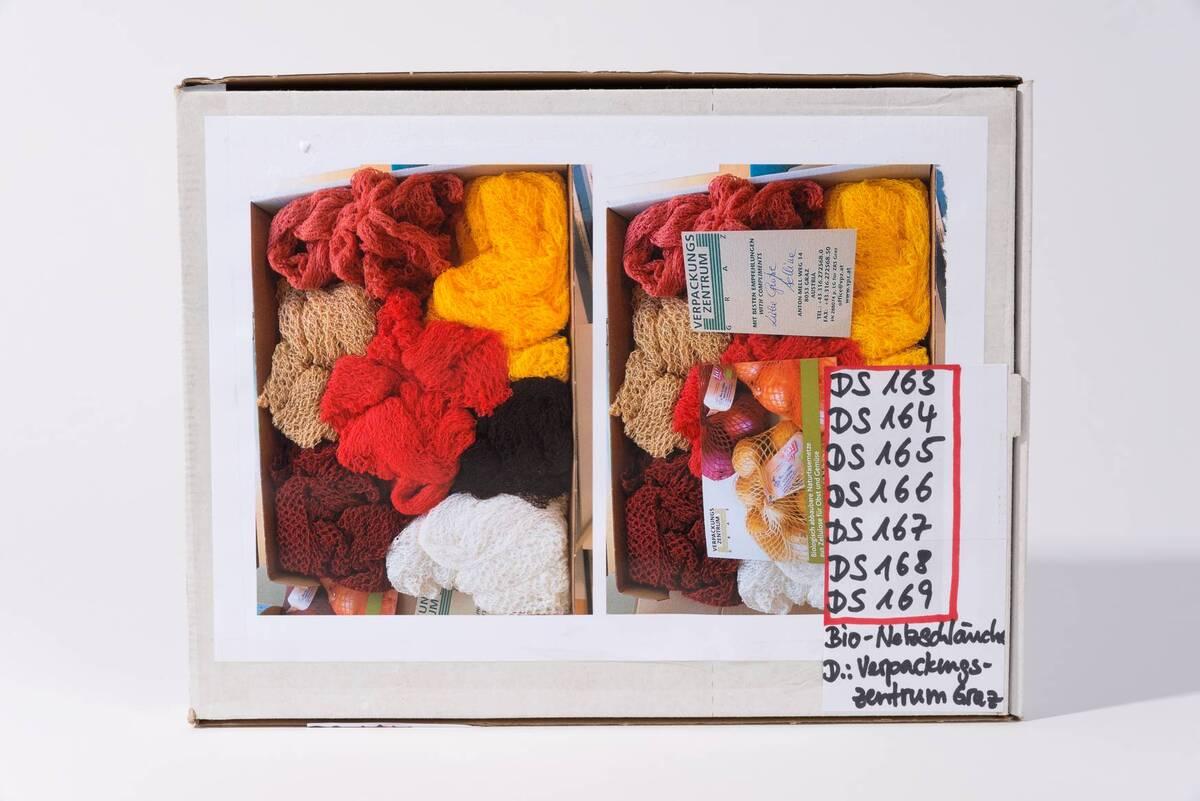 Kompostierbarer Netzschlauch für Frühkartoffeln, weiß von Verpackungszentrum Graz