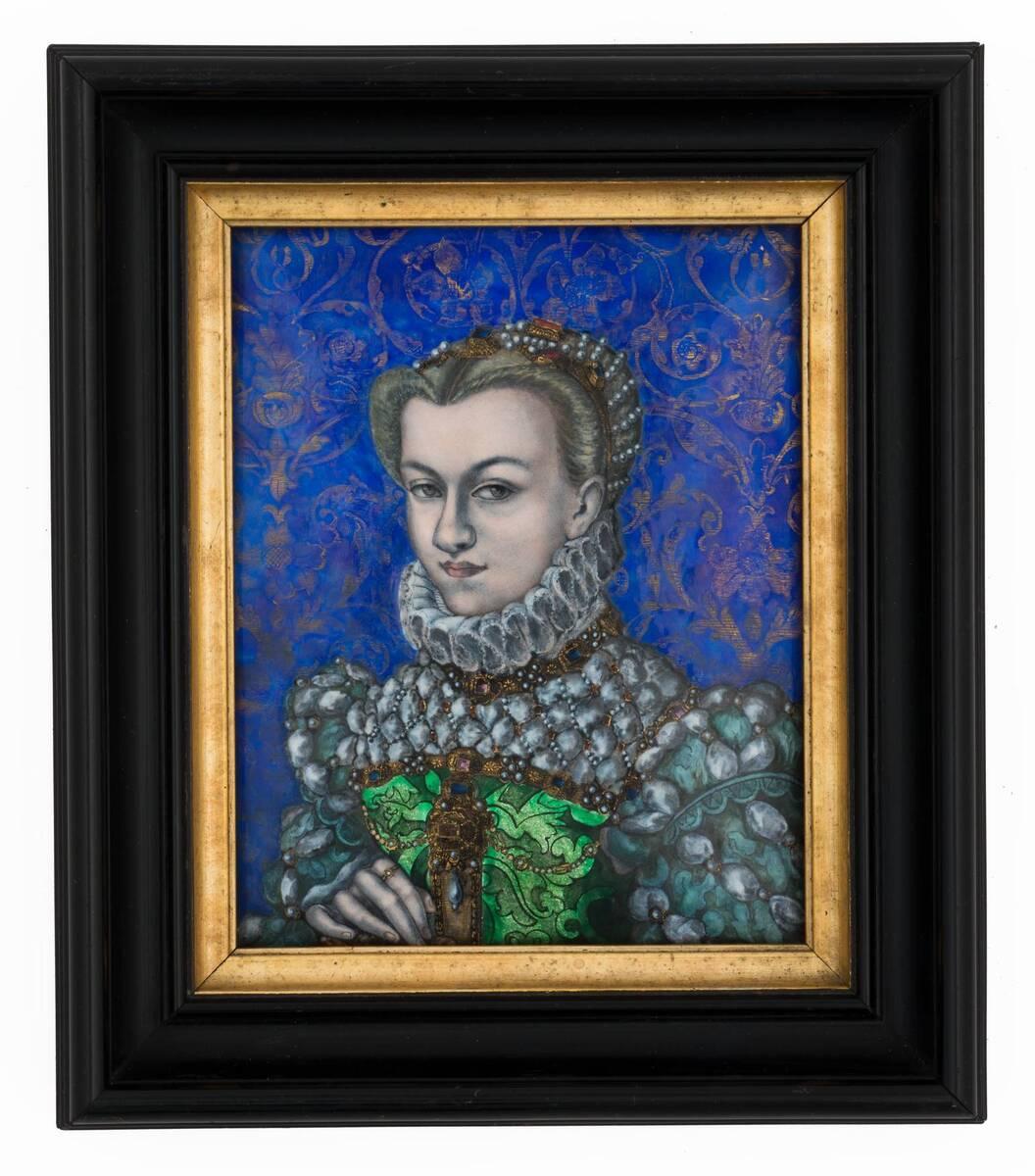 Porträt einer Dame in Renaissancemanier von Anonym