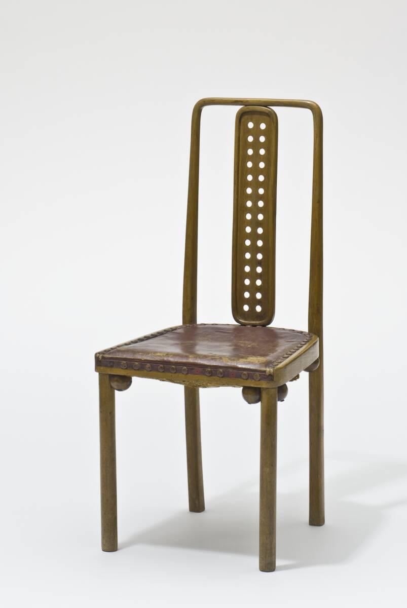 Stuhl / Sessel aus dem Speisesaal des Sanatoriums Purkersdorf von Hoffmann, Josef