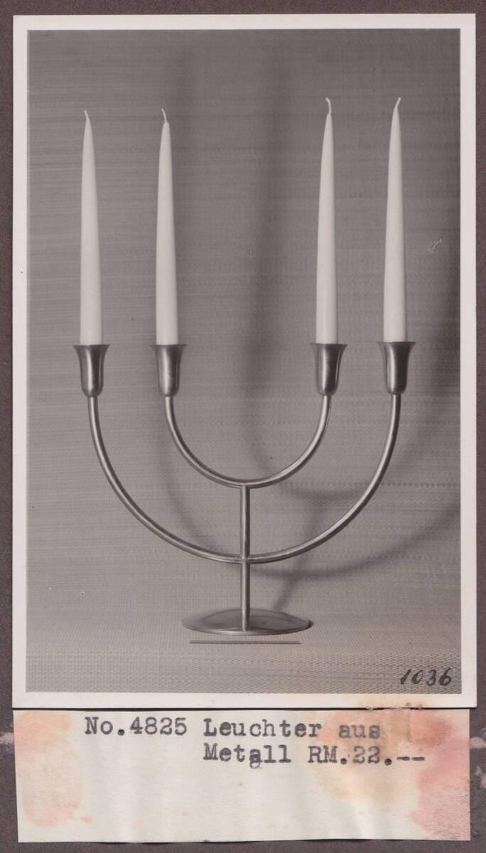 Kerzenleuchter vierarmig von Sedlmayer, Karl