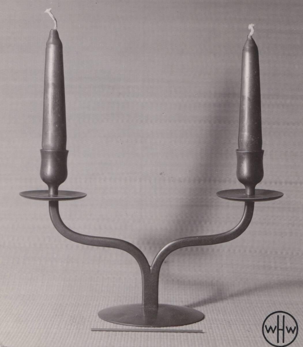 Kerzenleuchter zweiarmig von Sedlmayer, Karl