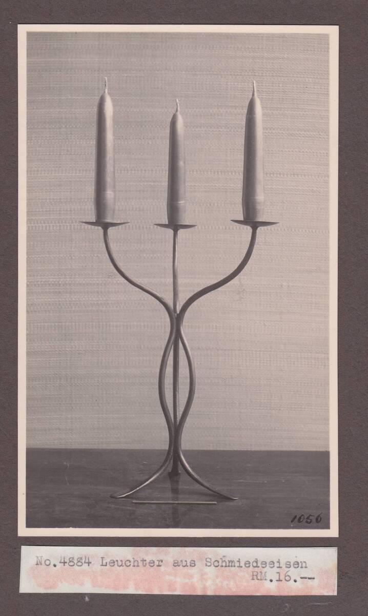 Kerzenleuchter dreiarmig von Sedlmayer, Karl