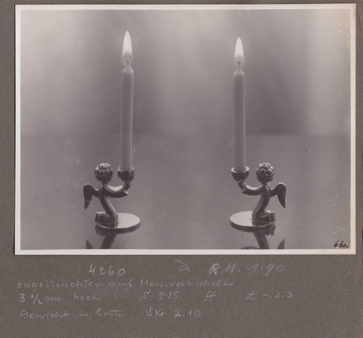 """2 Kerzenleuchter """"Engelleuchter"""": kniender Engel als Leuchterfuß von Sedlmayer, Karl"""