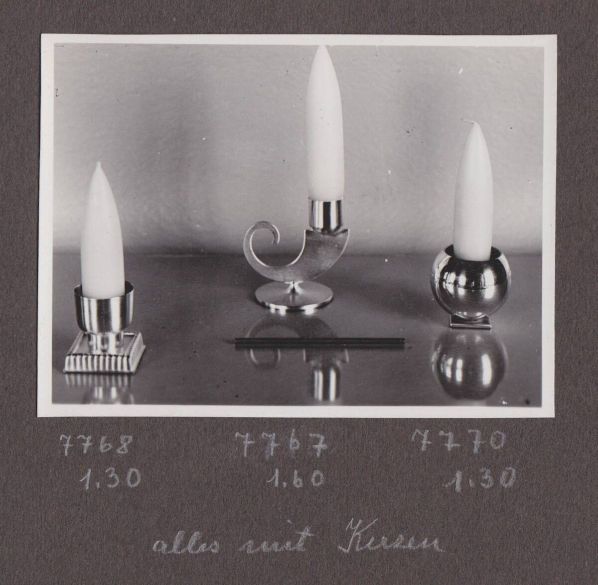 3 Kerzenleuchter von Werkstätte Hagenauer