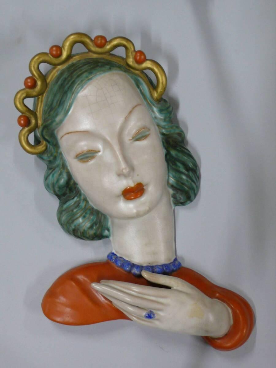 """""""Maske mit Golddiadem"""" von Wiener Manufaktur Friedrich Goldscheider"""