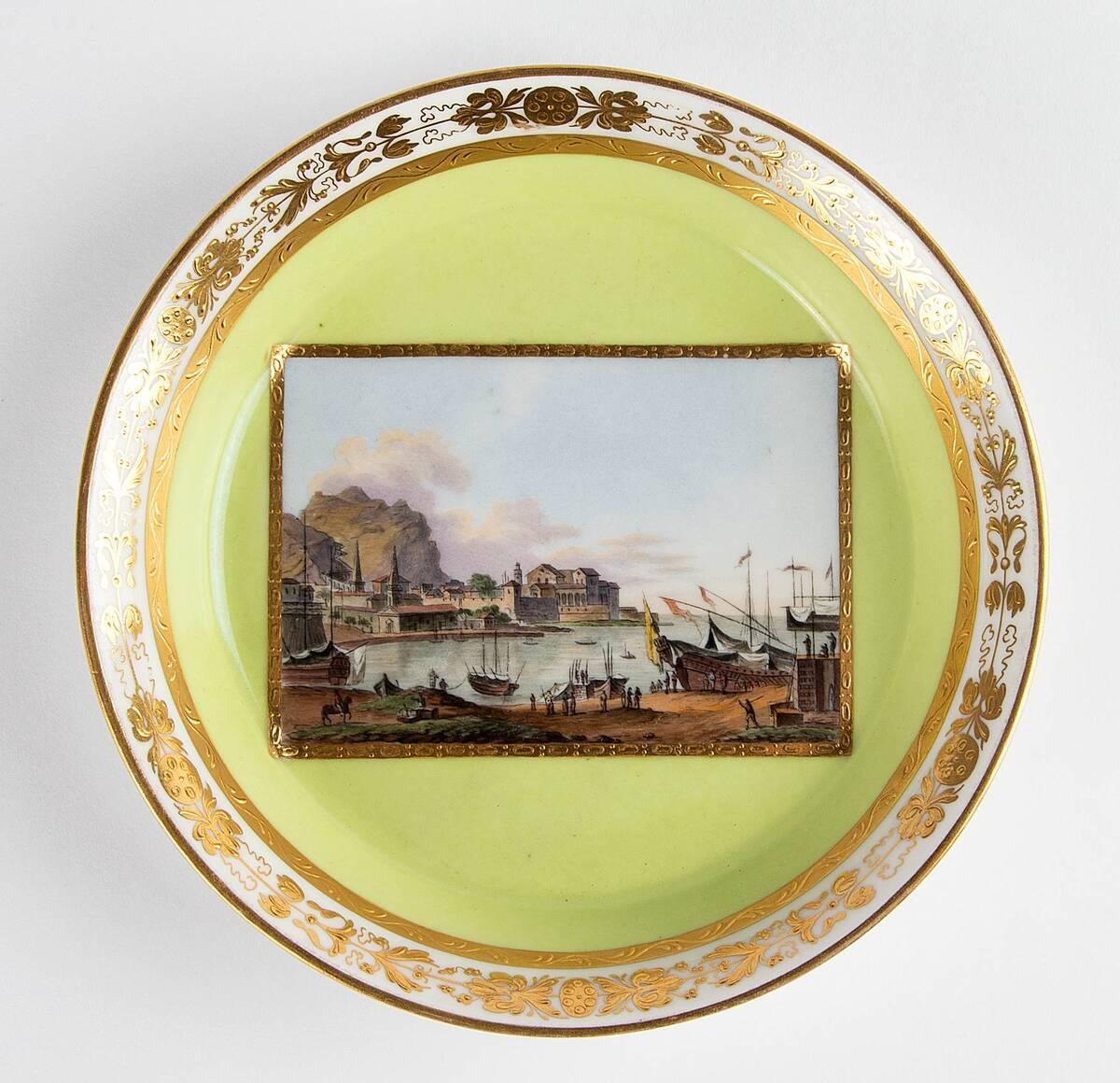 Untertasse von Kaiserliche Porzellanmanufaktur Wien