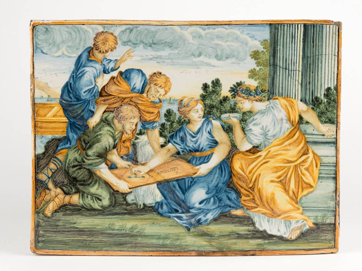 Bildplatte von Castelli Keramik