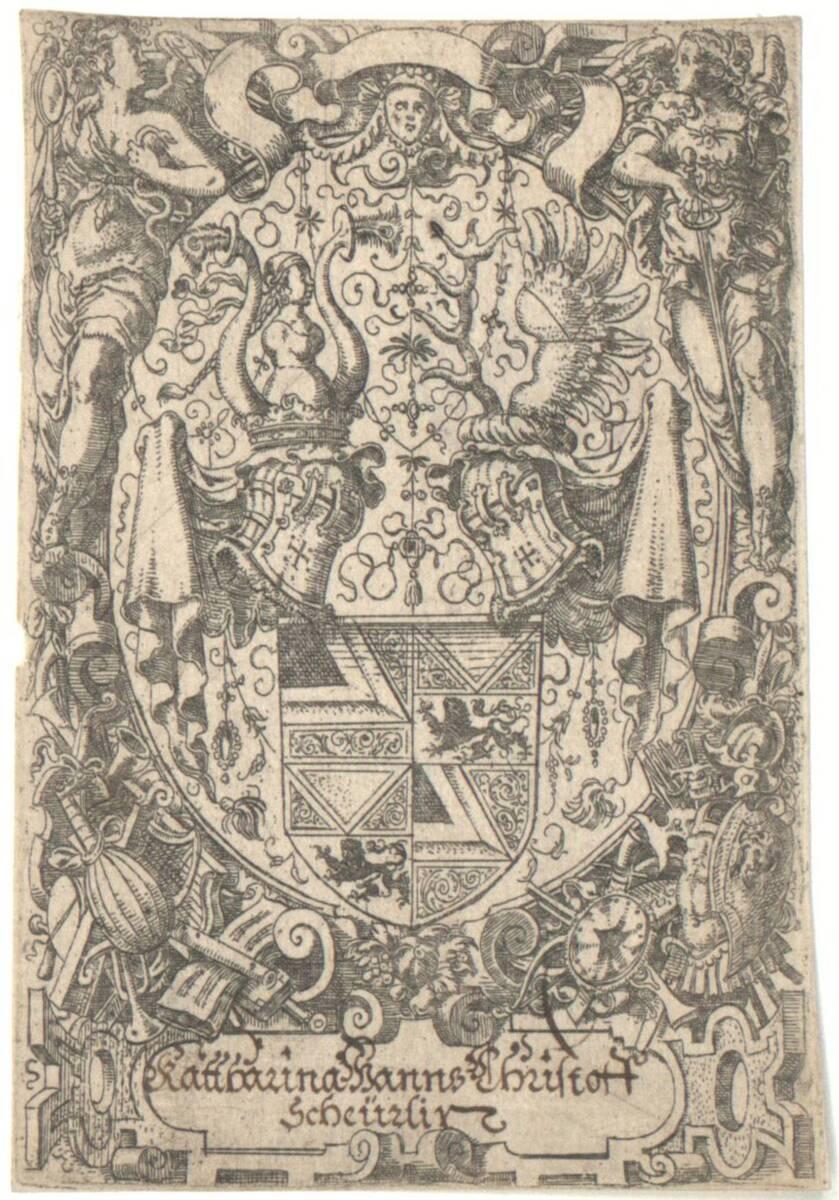 Die Wappen der Haller von Hallerstein (vom Bearbeiter vergebener Titel) von Amman, Jost