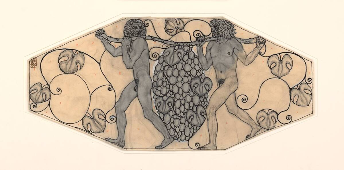 Entwurf für ein Bronzerelief der Ofenschirme des Palais Stoclet in Brüssel von Czeschka, Carl Otto