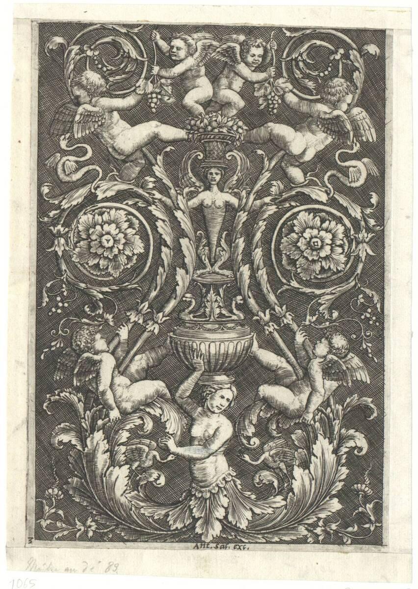 Ornamentfüllung nach Raffael (vom Bearbeiter vergebener Titel) von Perin del Vaga