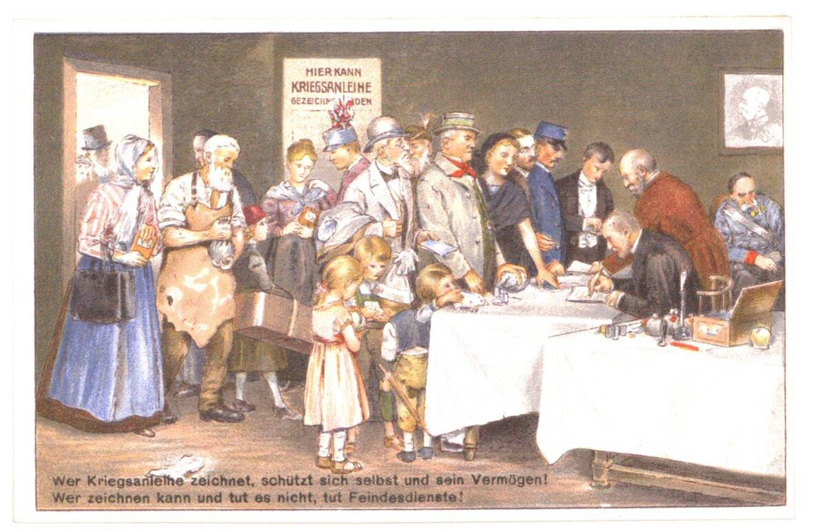 Künstlerpostkarte aus dem Ersten Weltkrieg von Anonym