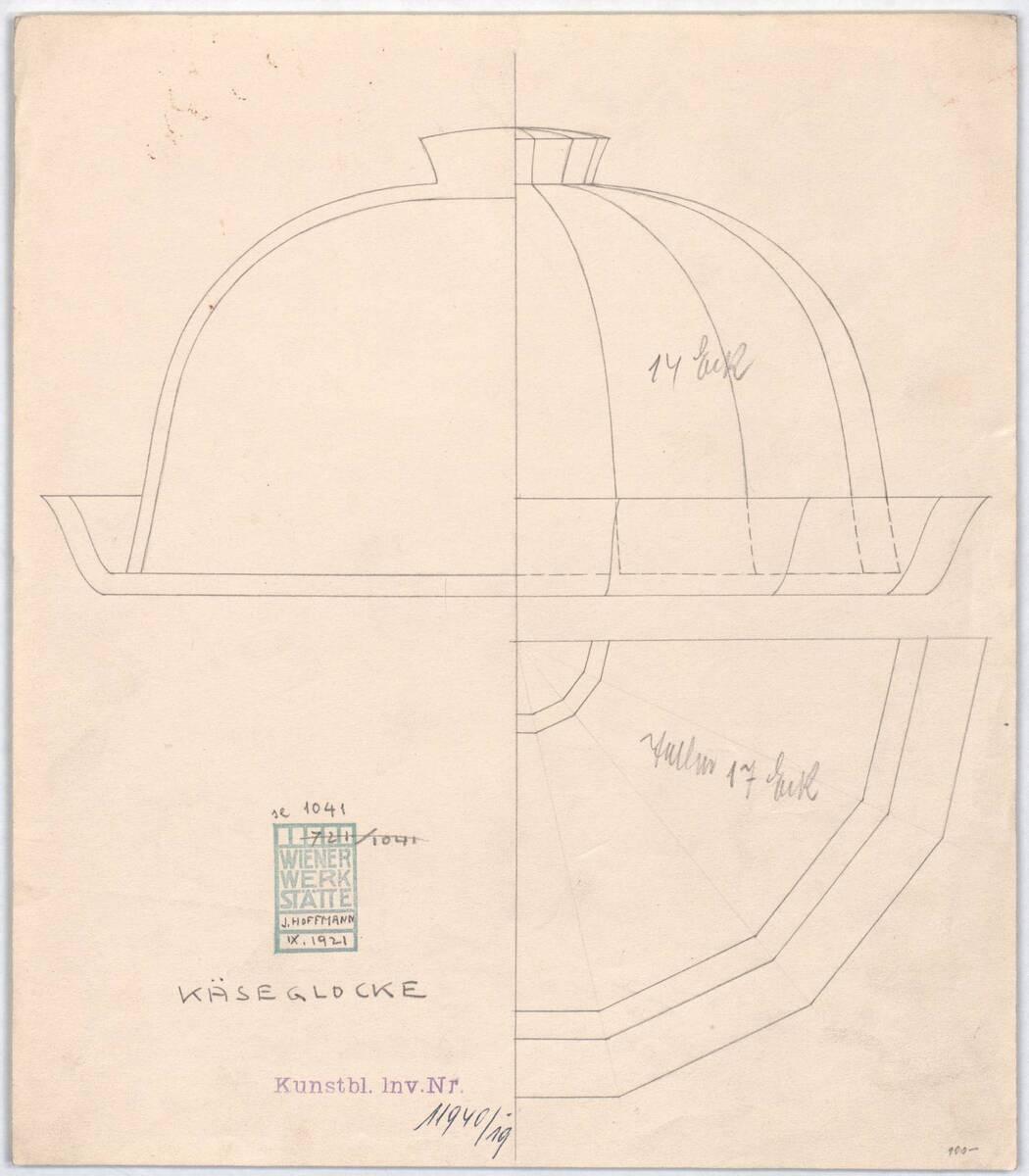 """Glasservice """"Service 1000"""": """"Käseglocke"""" (Originaltitel) von Hoffmann, Josef"""