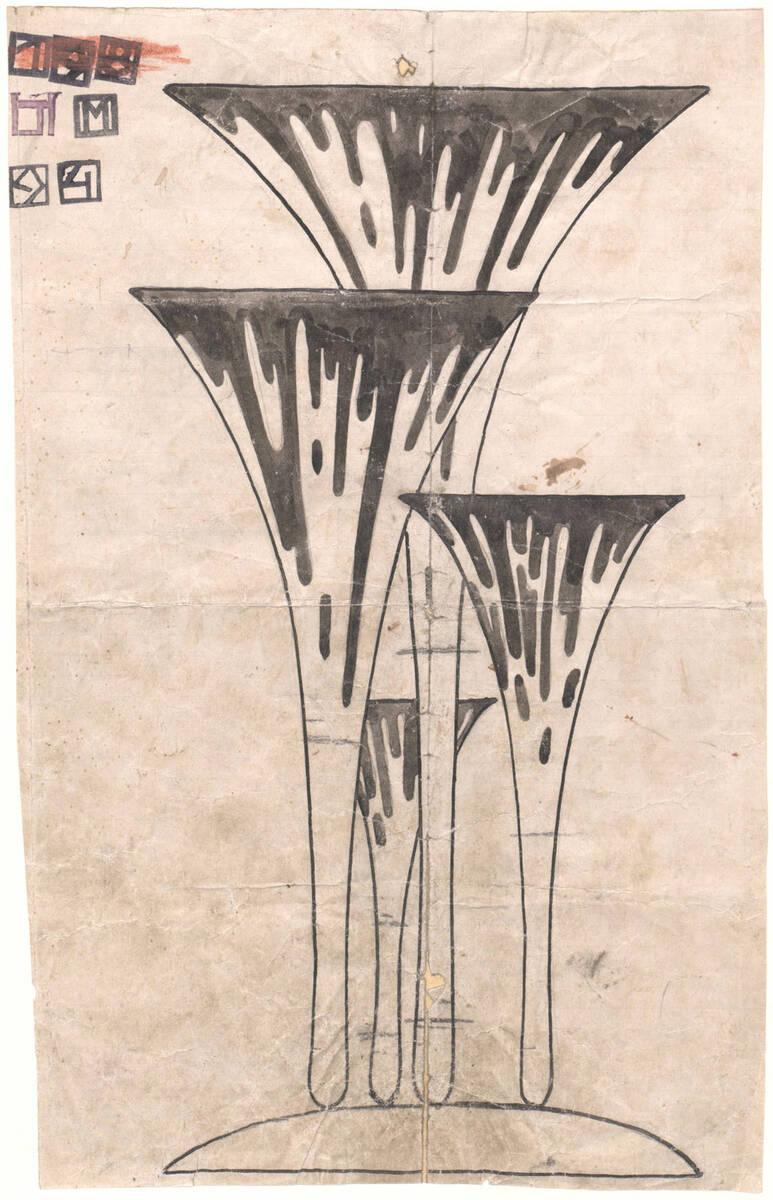 """""""Blumenvase"""" (Originaltitel) von Hoffmann, Josef"""