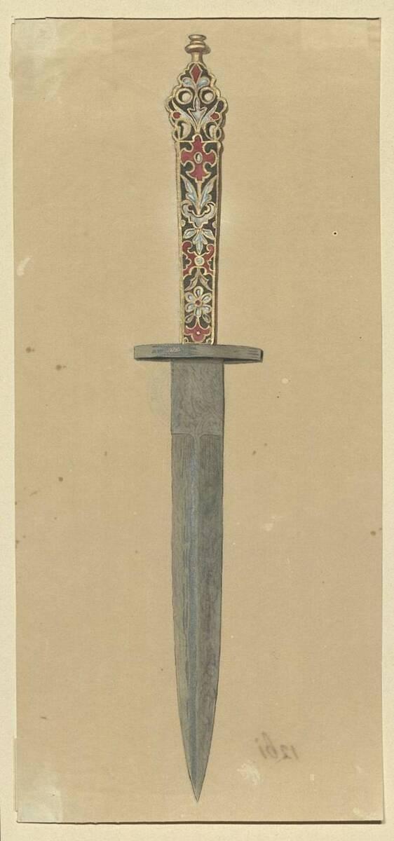Kopie eines Dolchs mit Email-Griff aus dem 16. Jahrhundert (vom Bearbeiter vergebener Titel) von Anonym
