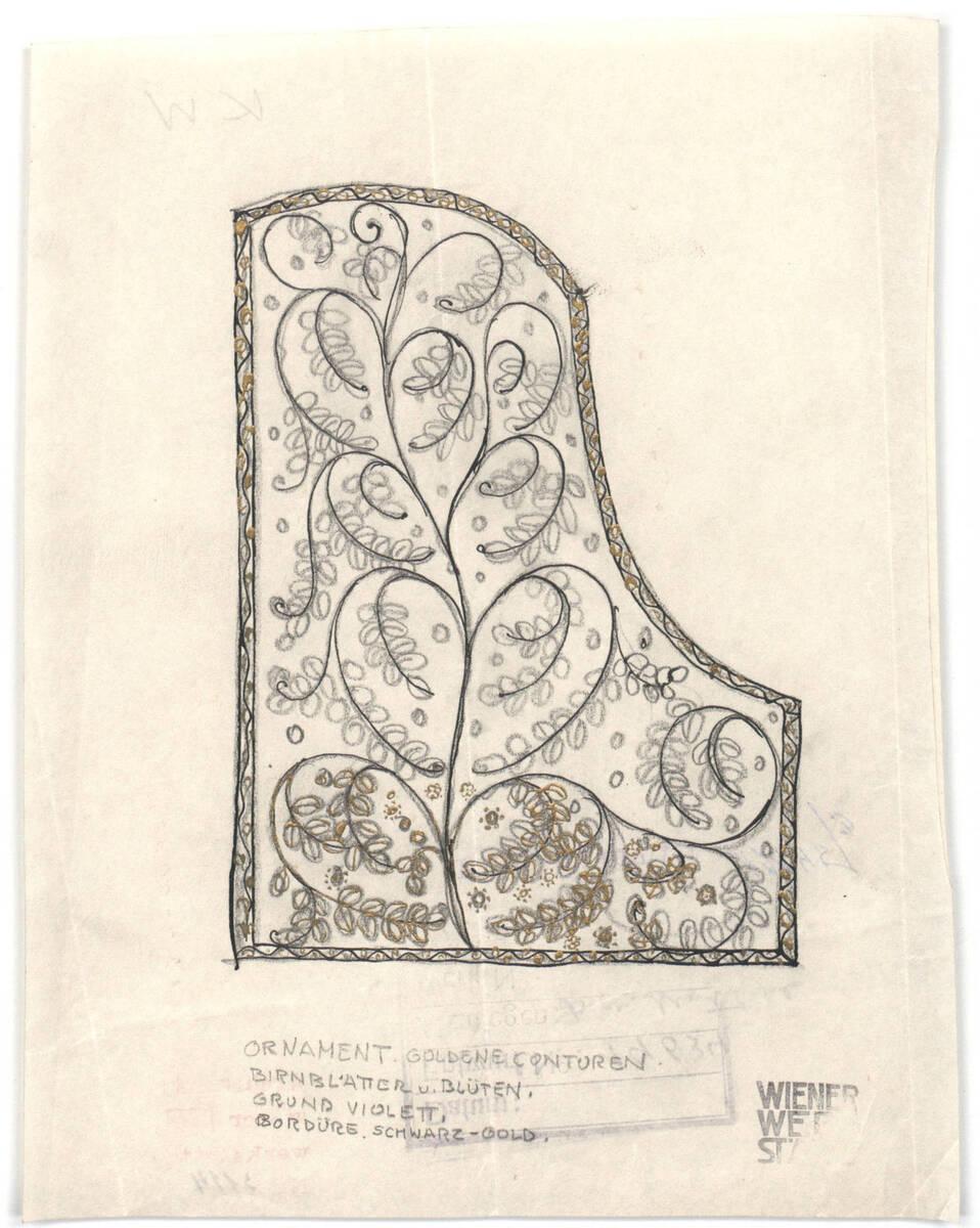 Decke für einen Flügel von Wiener Werkstätte