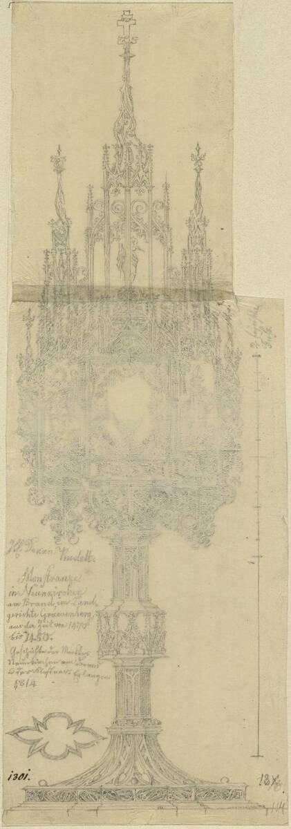 Kopie einer Monstranz mit Heiligennischen aus Neunkirchen am Brand (1470-1480) (vom Bearbeiter vergebener Titel) von Anonym