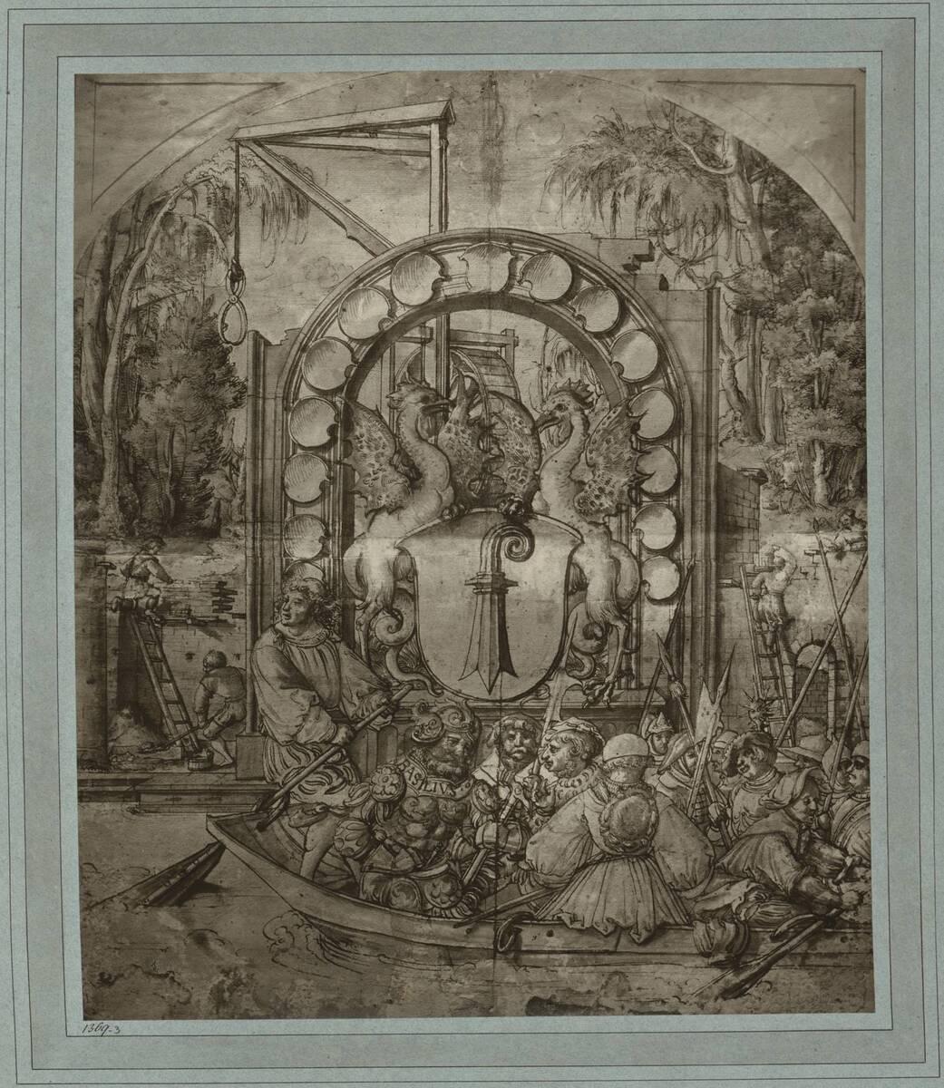 Fotografie einer Handzeichnung von Hans Holbein von Braun, Adolphe