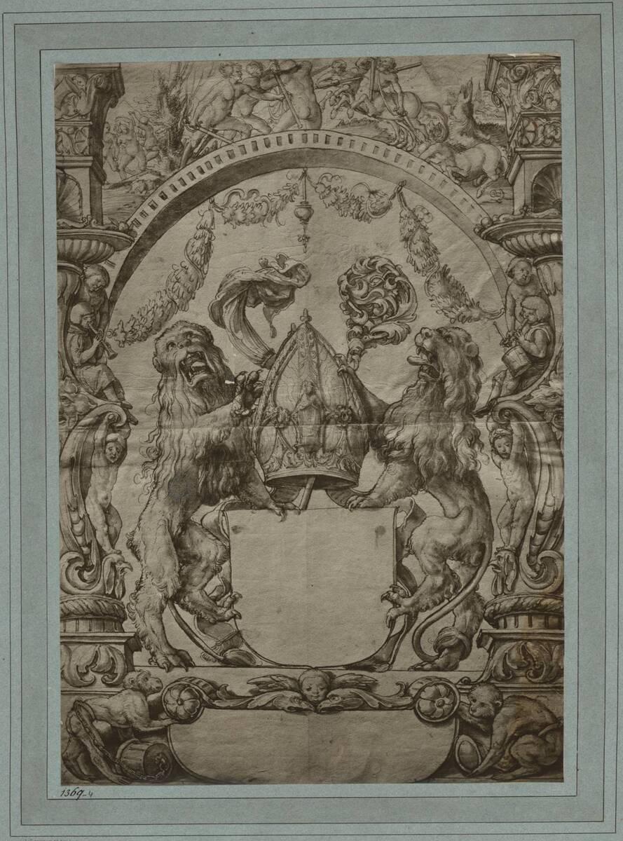 Fotografie einer Handzeichnung von Hans Holbein (vom Bearbeiter vergebener Titel) von Braun, Adolphe