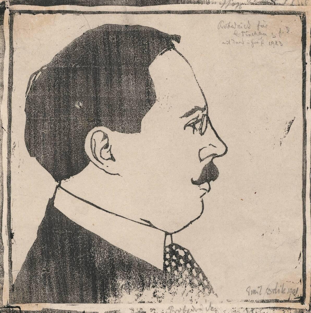 Porträt Josef Hoffmann (Probedruck) von Anonym