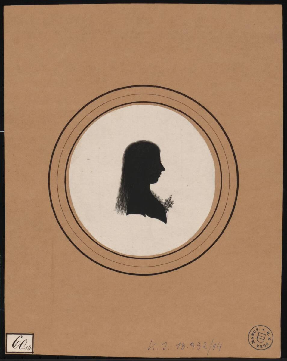 [Scherenschnitt weibliches Mitglied der kaiserlichen Familie ?] (vom Bearbeiter vergebener Titel) von Deiwel, Franz
