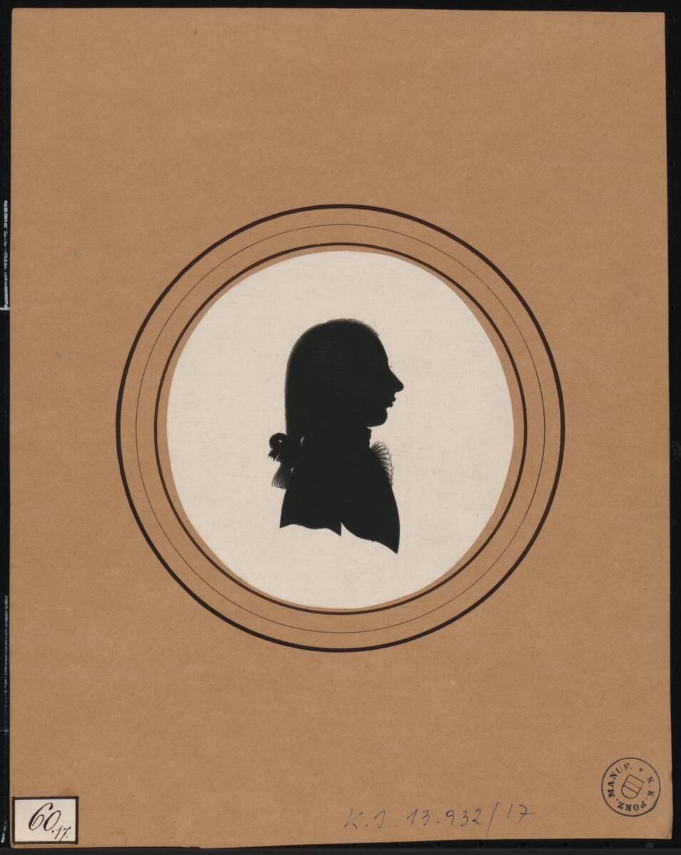 [Scherenschnitt männliches Mitglied der kaiserlichen Familie ?] (vom Bearbeiter vergebener Titel) von Deiwel, Franz
