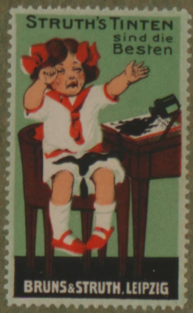 Werbeverschlussmarke für Struth's Tinten von Bruns & Struth, Leipzig von Anonym