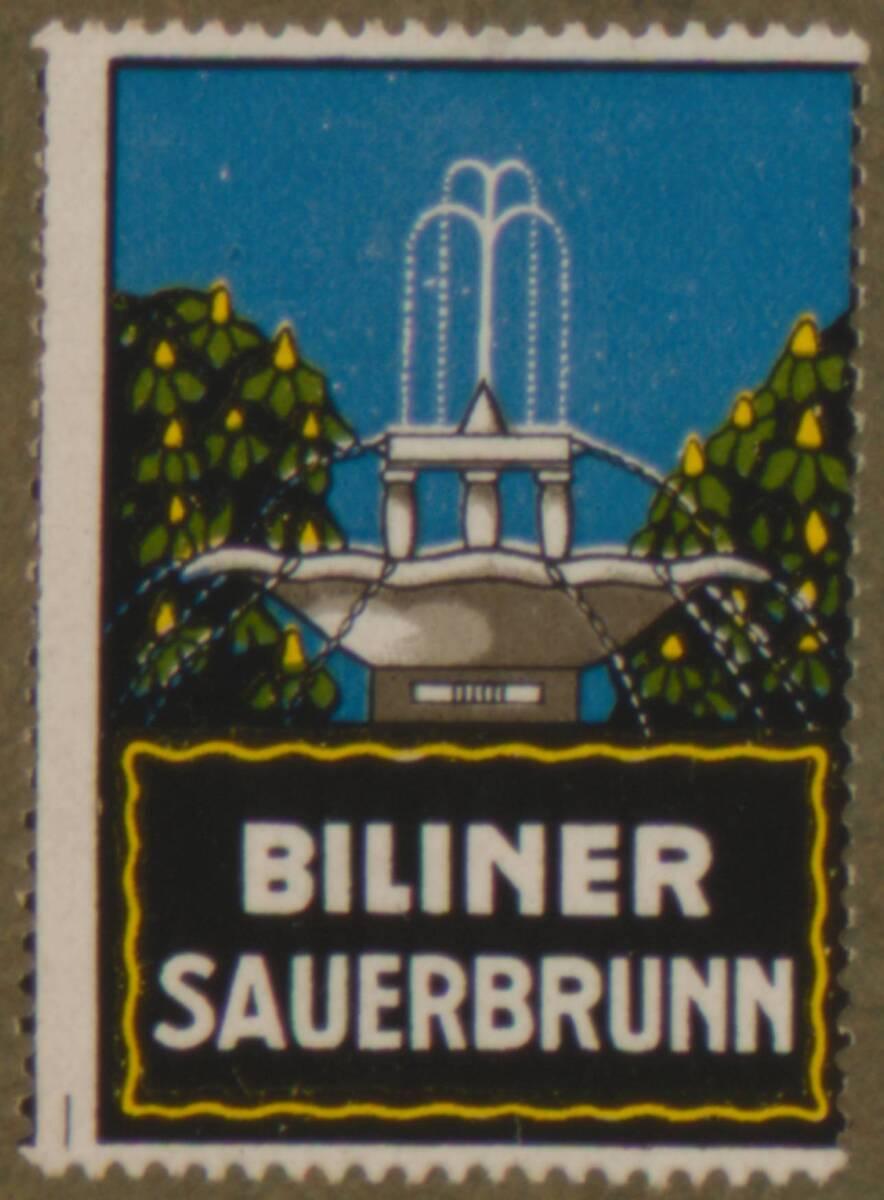 Werbeverschlussmarke für das Mineralwasser Biliner Sauerbrunn von Anonym