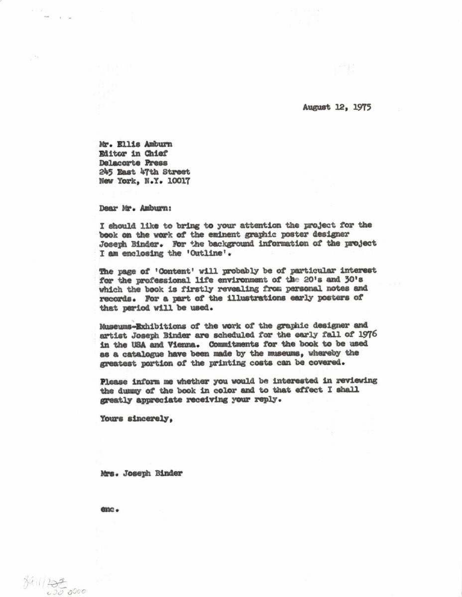 """Brief an """"Delacorte Press"""" (vom Bearbeiter vergebener Titel) von Binder, Carla"""