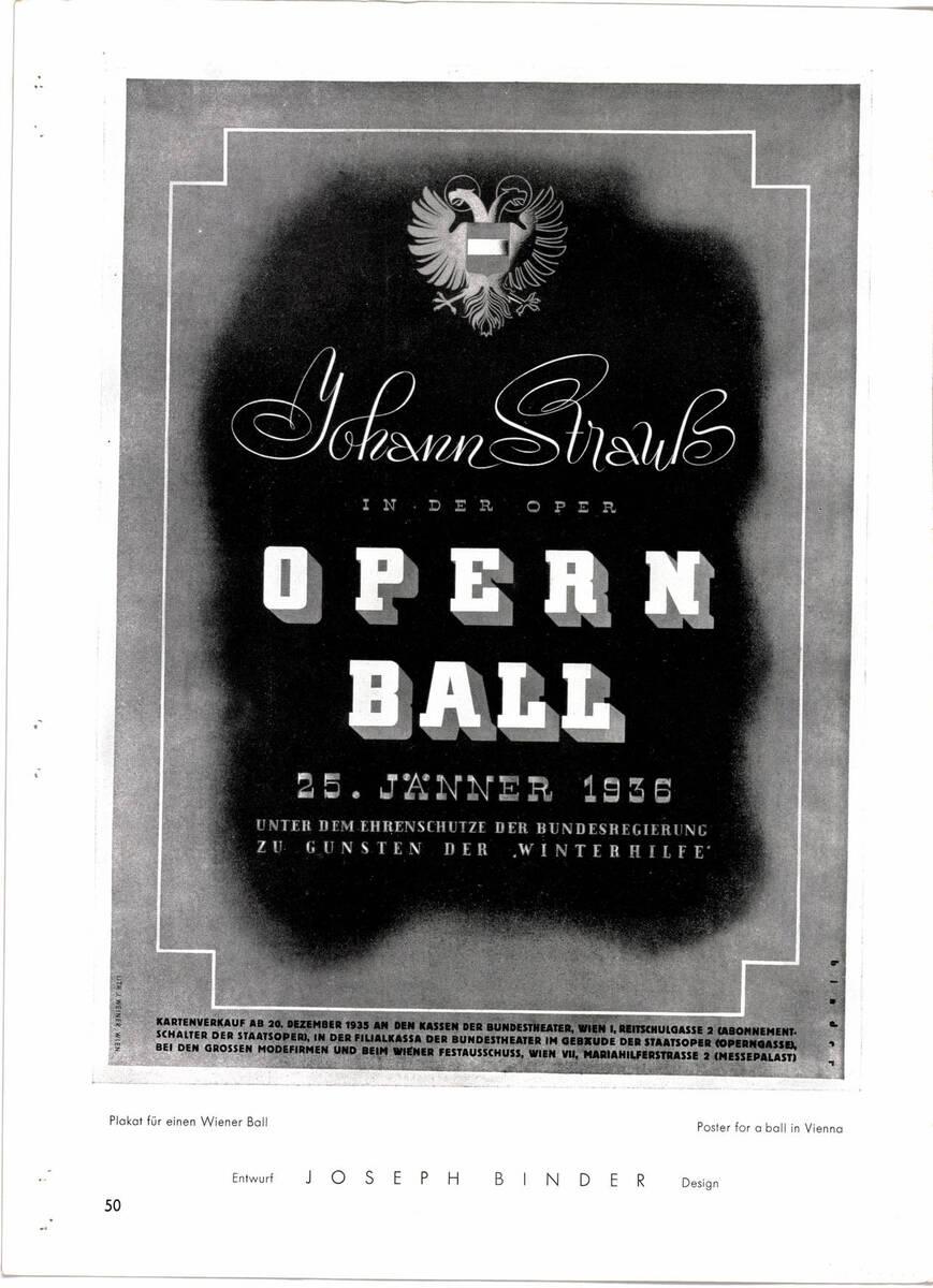 """Zeitschriftenartikel """"Joseph Binder. Wien - New York"""" (vom Bearbeiter vergebener Titel) von Paulus, E.G."""