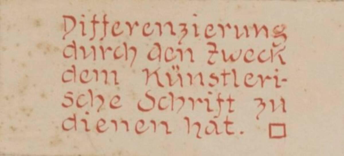 Die Erklärung zu den Bildtafeln der Differenzierung des Zweckes, den künstlerische Schrift zu dienen hat. (vom Bearbeiter vergebener Titel) von Anonym