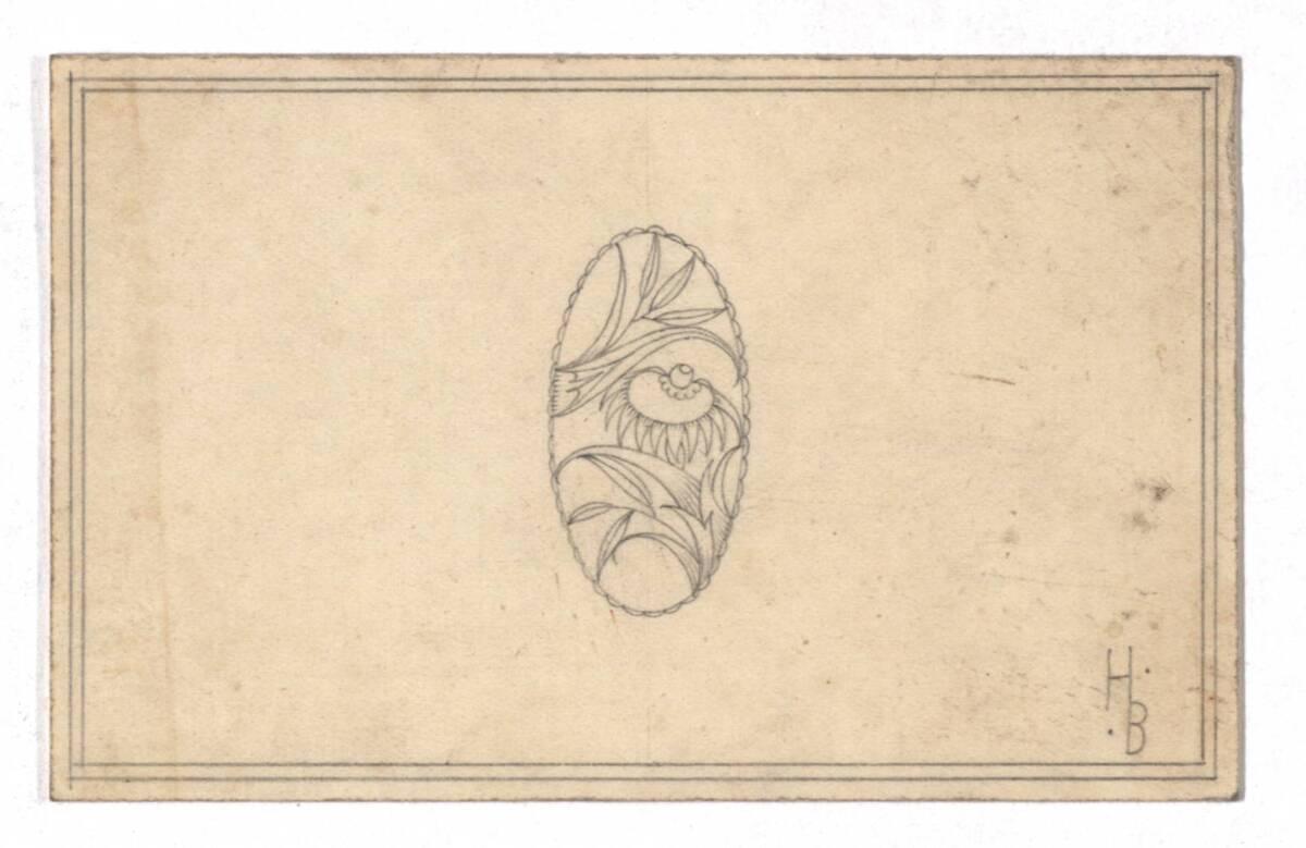 Entwurf eines Anhängers (vom Bearbeiter vergebener Titel) von Bolek, Hans