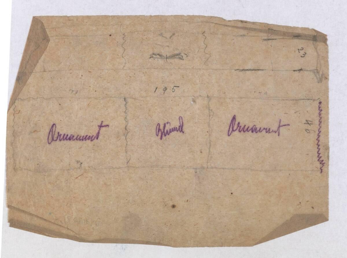 Entwurf eines Armband (vom Bearbeiter vergebener Titel) von Peche, Dagobert