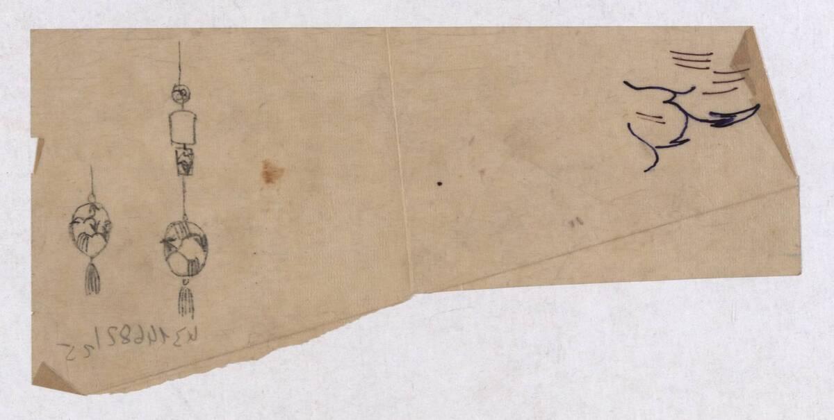 Entwurf eines Anhängers (vom Bearbeiter vergebener Titel) von Peche, Dagobert