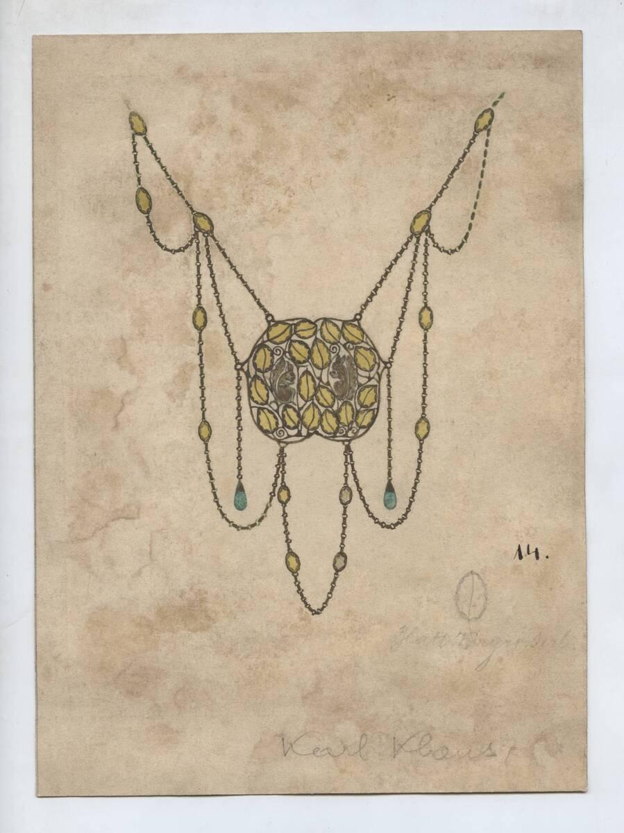 Entwurf eines Colliers (vom Bearbeiter vergebener Titel) von Klaus, Karl