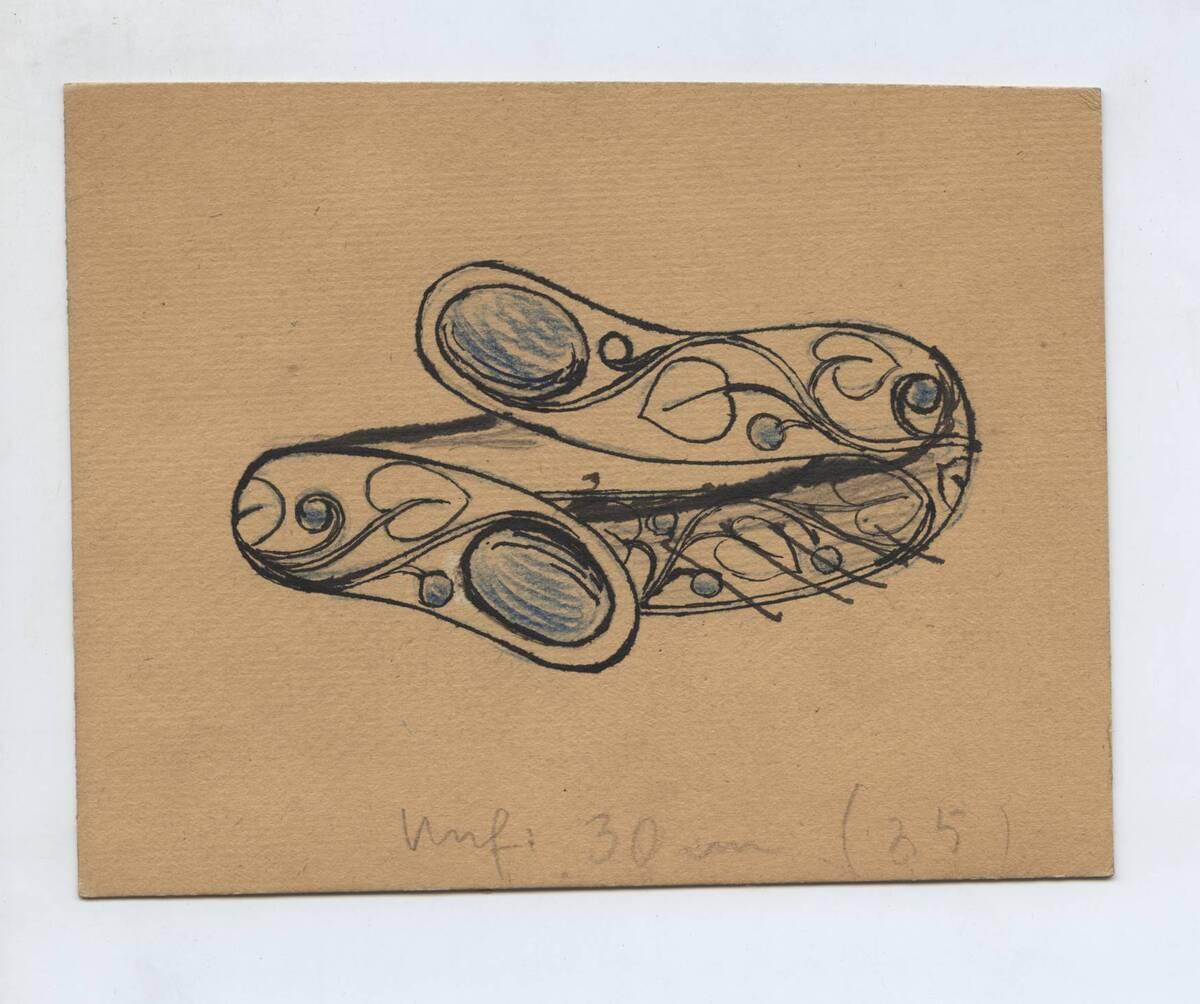 Entwurf einer Zierschale (vom Bearbeiter vergebener Titel) von Dietrich, Oscar