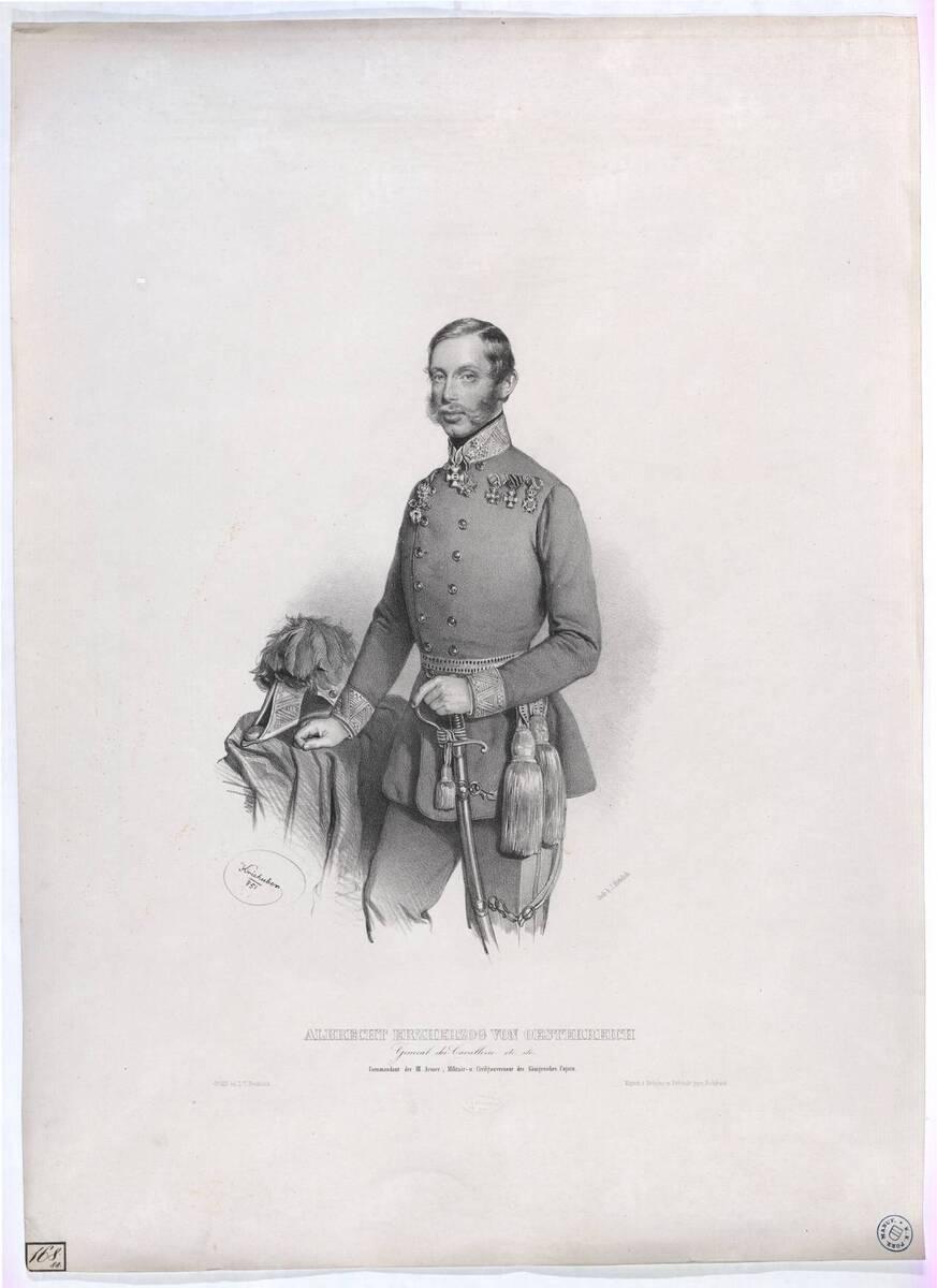 Albrecht Erzherzog von Oesterreich [1817-1895] (Originaltitel) von Kriehuber, Josef