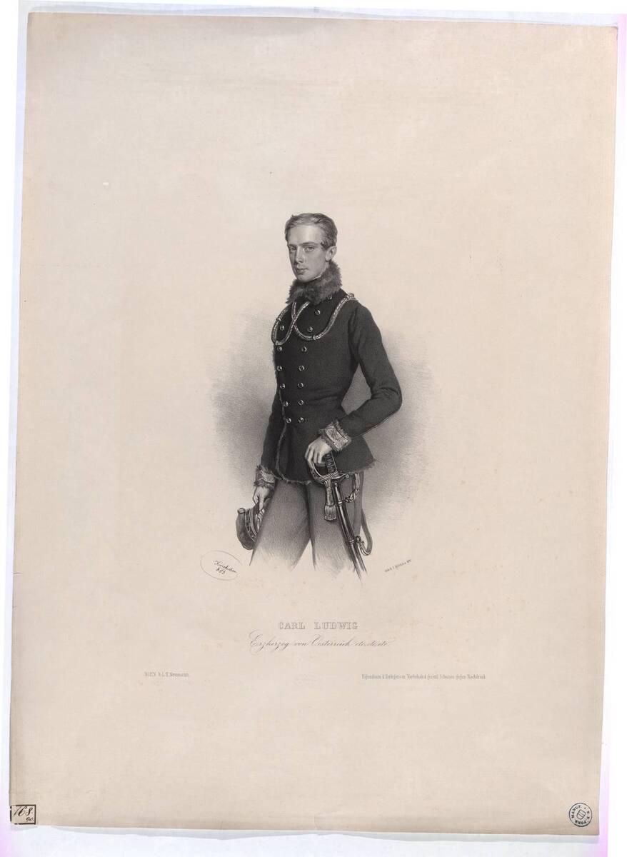 Carl Ludwig / Erzherzog von Oesterreich (Originaltitel) von Kriehuber, Josef