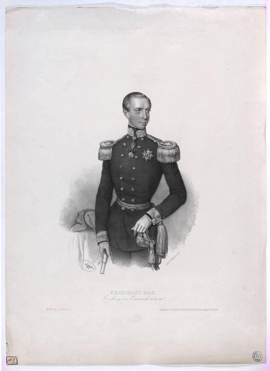 Ferdinand Max / Erzherzog von Österreich (Originaltitel) von Kriehuber, Josef