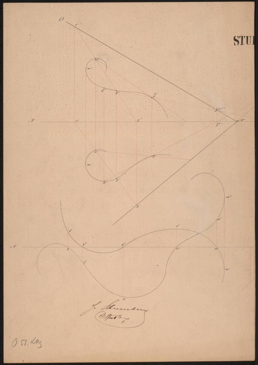[Geometrische Zeichnung] von Blumberg, H.