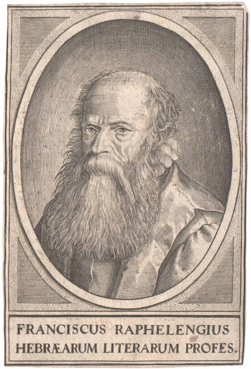 Portrait von Franciscus Raphelengius (vom Bearbeiter vergebener Titel) von Anonym