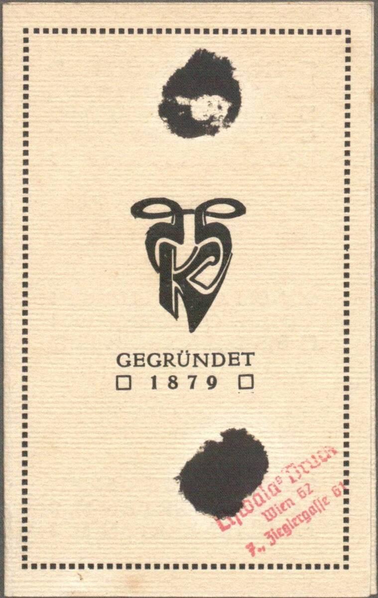 Einladung zu den Sonderausstellungen der Wiener Werkstätte in den Räumen des Hohenzollern Kunstgewerbehaus, Berlin vom 1. Ok. 1904 bis 1. Jänner 1905 von Hoffmann, Josef