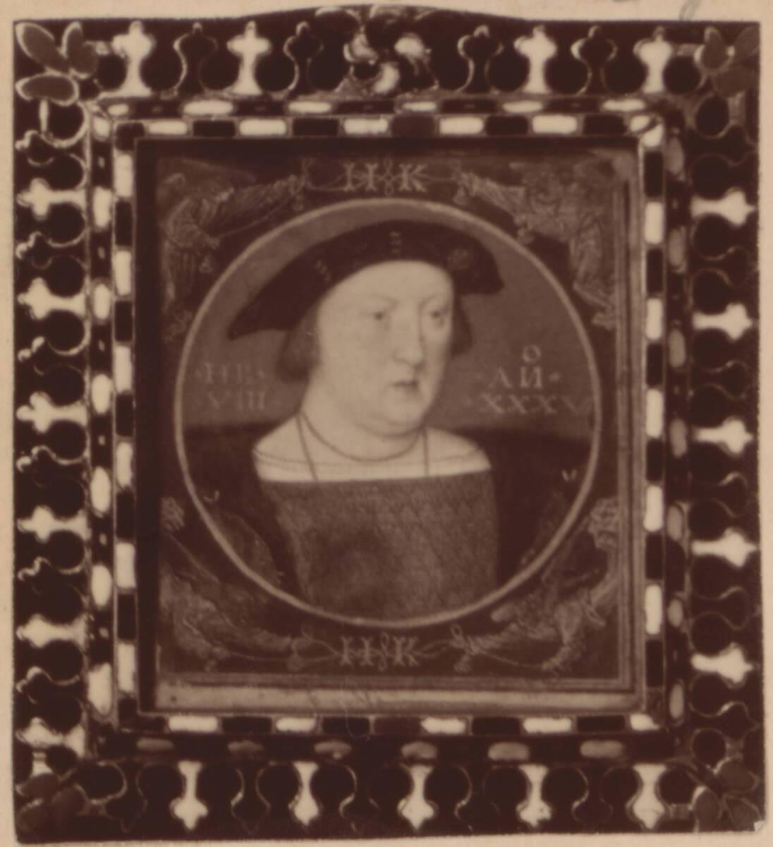 Fotografie einer Porträtmalerei Heinrich VIII., vermutlich von Hans Holbein dem Jüngeren, aus der Sammlung des Herzogs von Buccleuch (vom Bearbeiter vergebener Titel) von Anonym