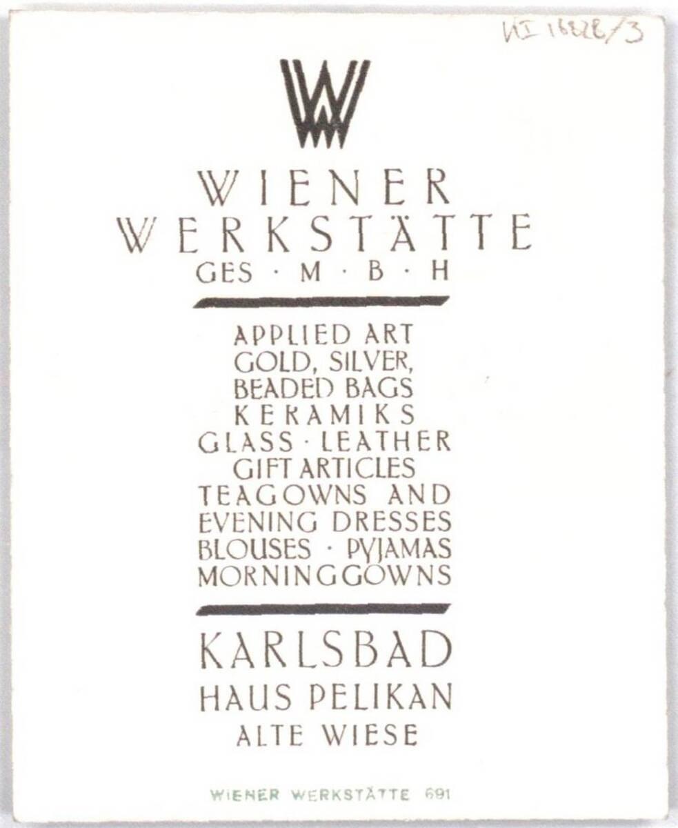 Werbekarte der Wiener Werkstätte