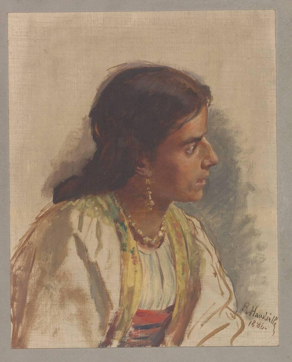 Porträtstudien einer Frau von Rudolf Hausleithner von Hauleithner, Rudolf