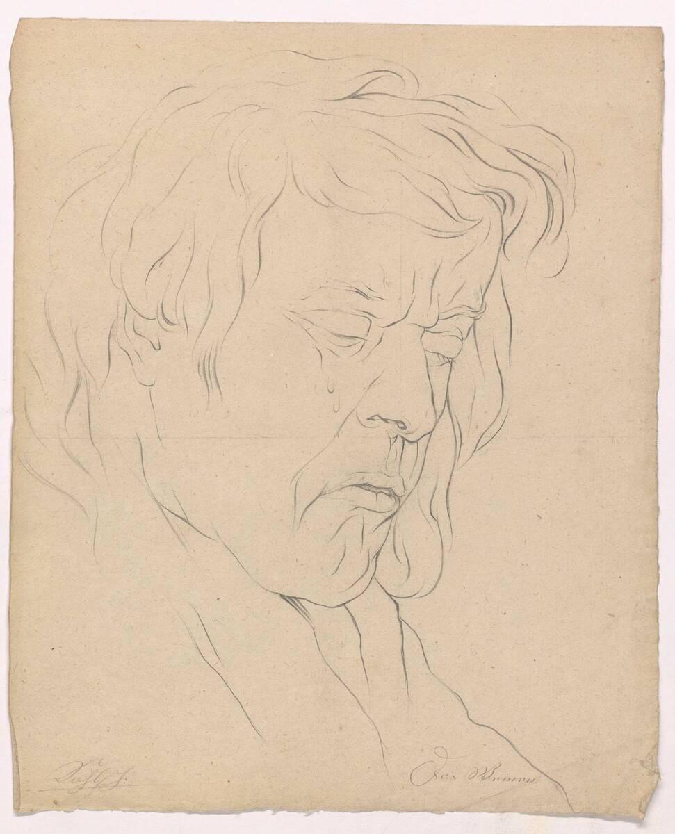 """Gesichtsstudie """"Das Weinen"""" von Joseph Kohl von Kohl, Joseph"""