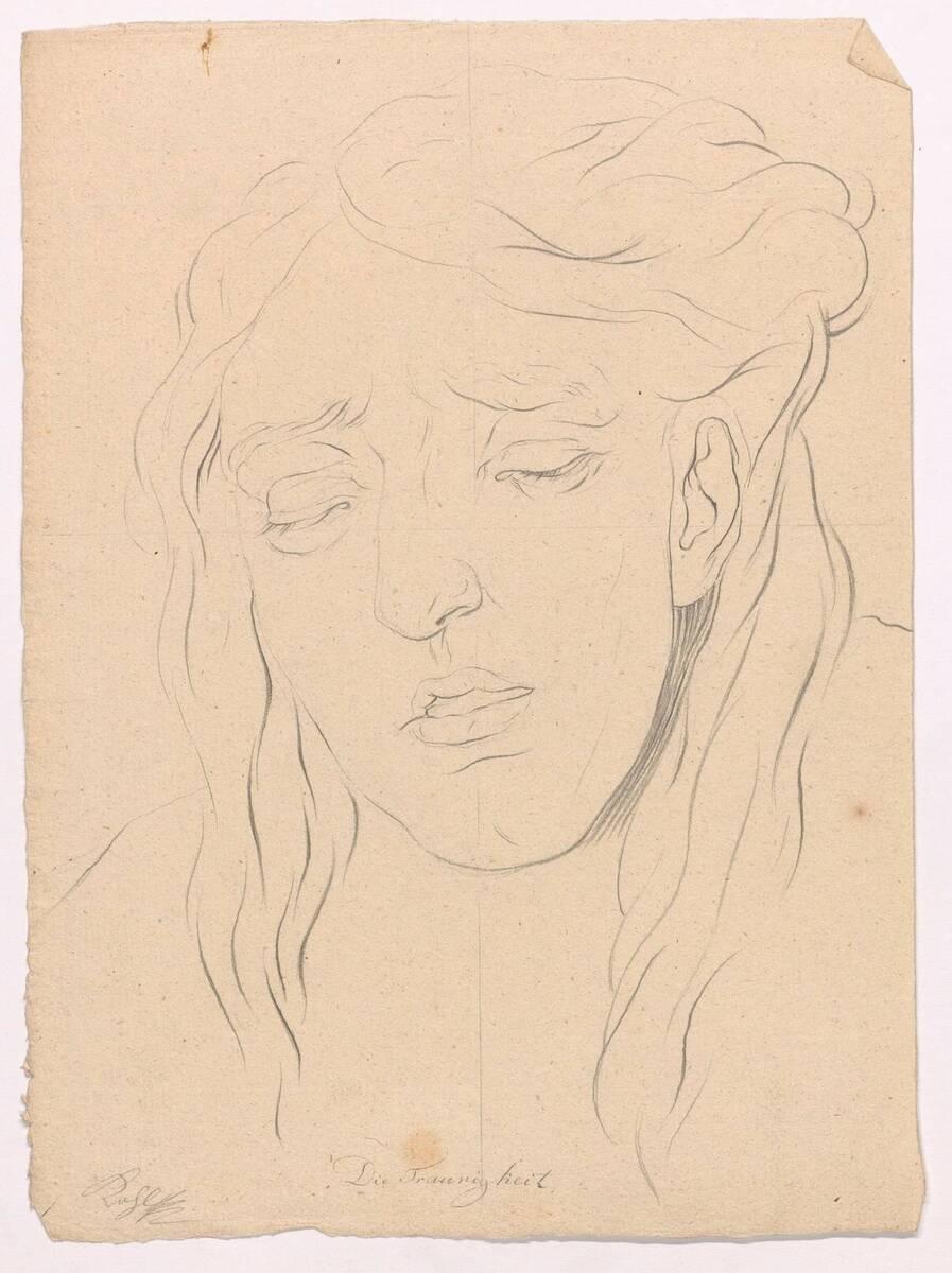 """Gesichtsstudie """"Die Traurigkeit"""" von Joseph Kohl von Kohl, Joseph"""