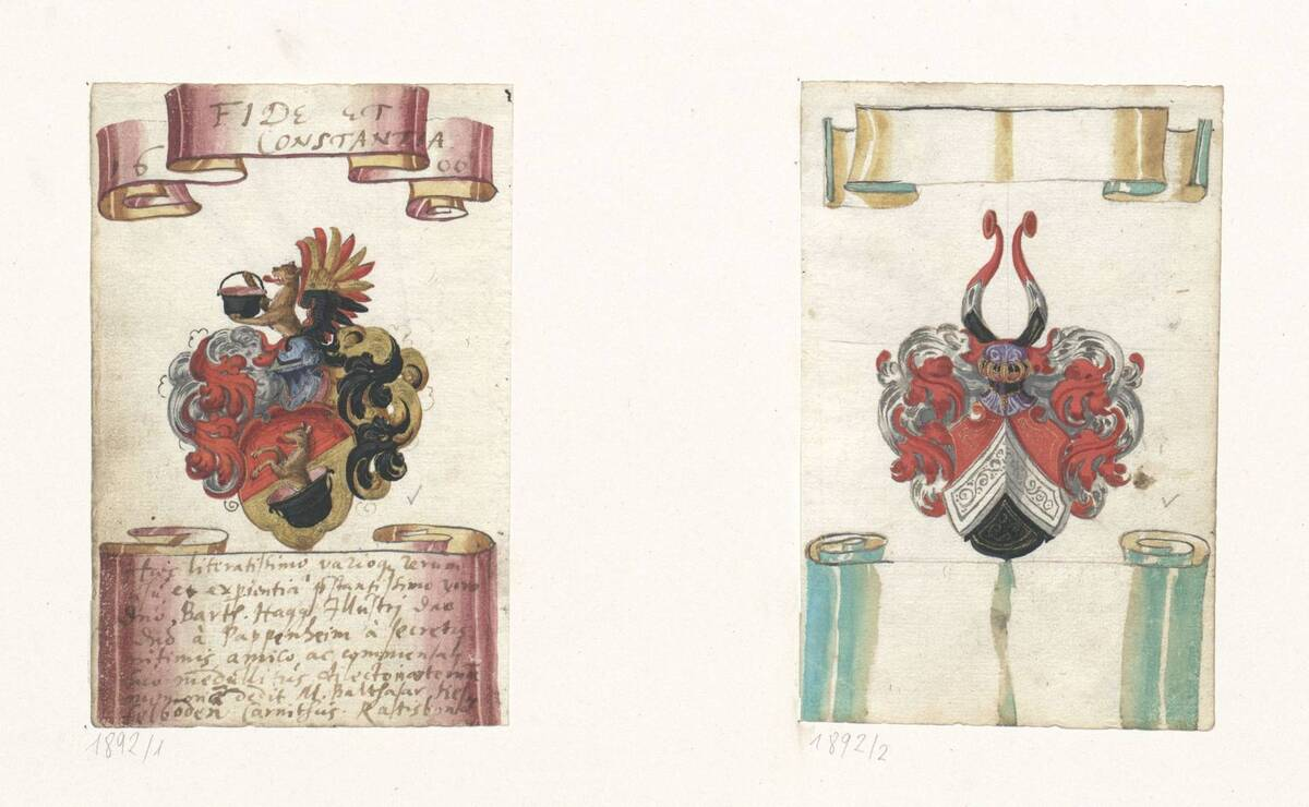 Wappen aus einem Stammbuch (vom Bearbeiter vergebener Titel) von Anonym