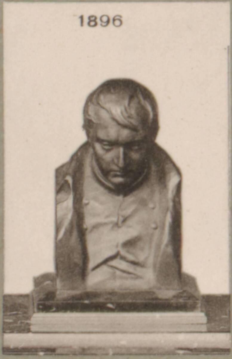 Lichtdruck einer bronzenen Büste von Napoleon Bonaparte (vom Bearbeiter vergebener Titel) von Anonym